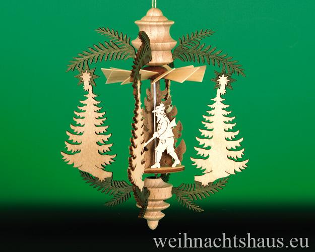 Seiffen Weihnachtshaus - Hängepyramide Tanne mit Waldmotiven - Bild 1