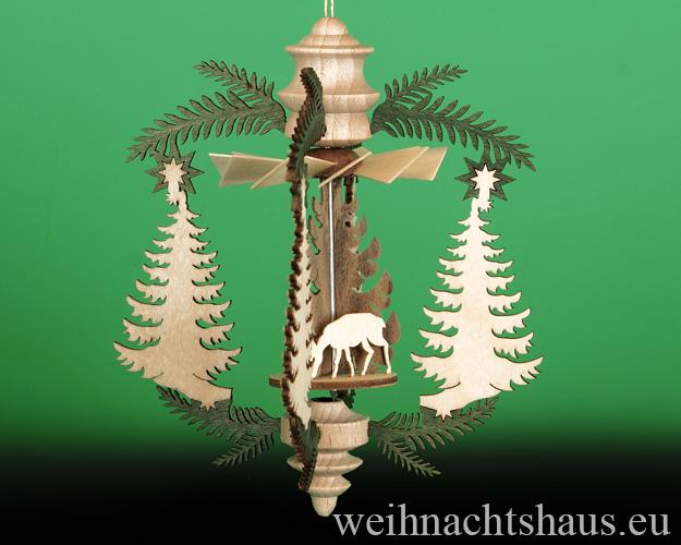Seiffen Weihnachtshaus - Hängepyramide Tanne mit Waldmotiven - Bild 2