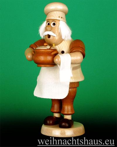 Seiffen Weihnachtshaus - <!--03-->Räuchermann Wichtel groß Koch - Bild 1