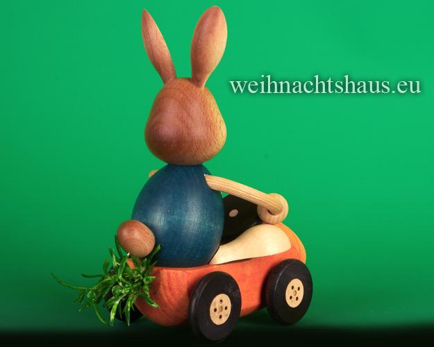 Seiffen Weihnachtshaus - Stupsi         Osterhase- Kuhnert  Möhrenflitzer Neu 2021 - Bild 2