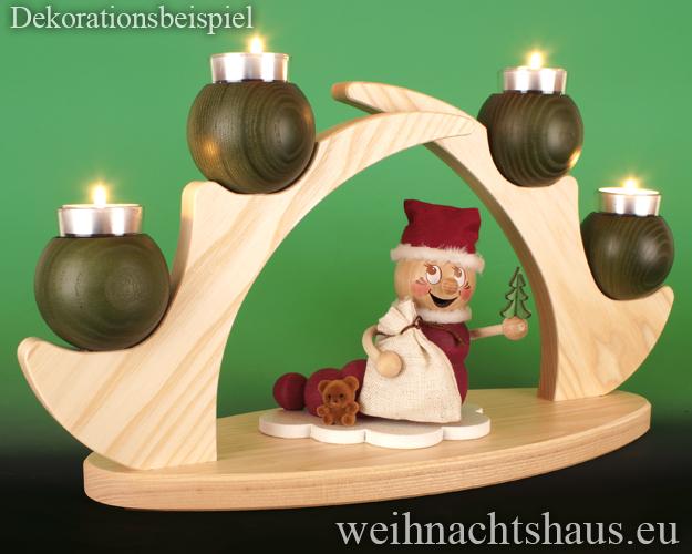 Kerzenständer Holz modern Teelicht Teelichtständer Holzständer Kerzenleuchter Schwibbogen  ohne Figuren leer Teelichte