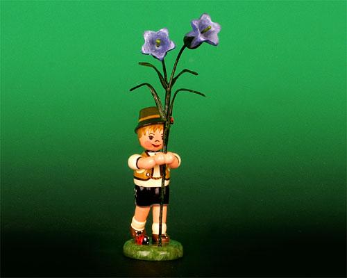 Seiffen Weihnachtshaus - Blumenjunge 11,5cm Fingerhut - Bild 1