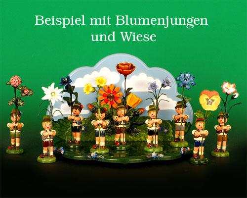 Seiffen Weihnachtshaus - Blumenjunge 11,5cm Orchidee - Bild 2