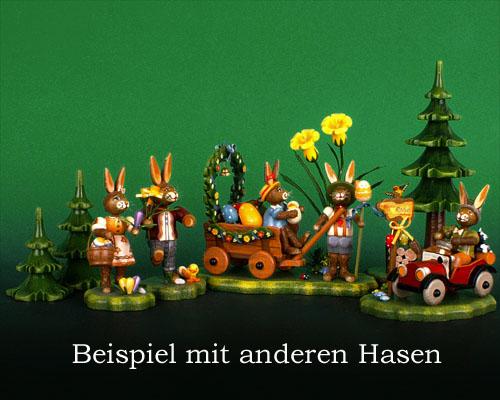 Seiffen Weihnachtshaus - Hubrig Häschen Auf zur Frühlingswiese - Bild 2