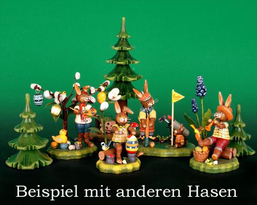 Seiffen Weihnachtshaus - Hubrig Häschen Hurtigs Ostergrüße - Bild 2
