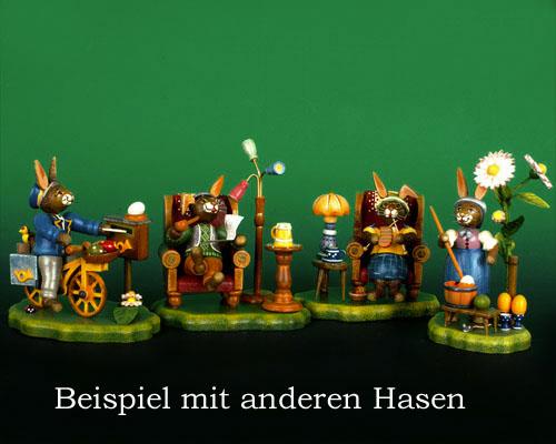 Seiffen Weihnachtshaus - Hubrig Häschen Langohr - Bild 2