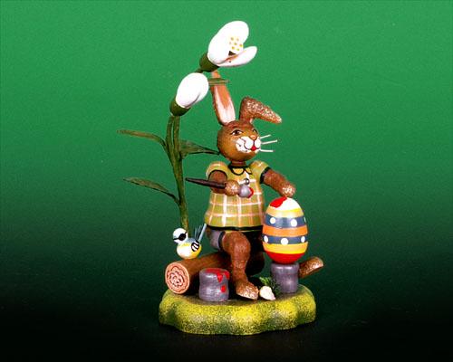 Seiffen Weihnachtshaus - Hubrig Häschen Farbenkünstler - Bild 1
