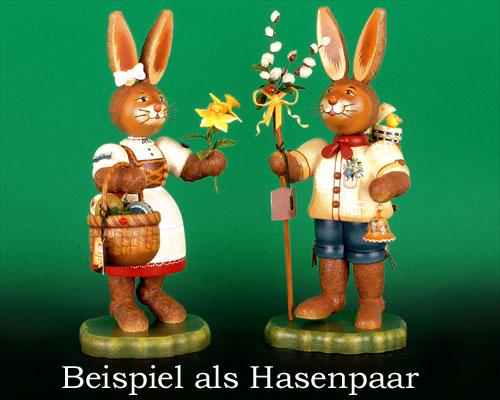 Seiffen Weihnachtshaus - Hubrig Hase Gretchen - Bild 2