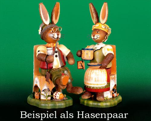 Seiffen Weihnachtshaus - Hubrig Hase Räuchergustav - Bild 2