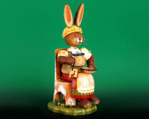 Seiffen Weihnachtshaus - Hubrig Hase Räuchergustel - Bild 1