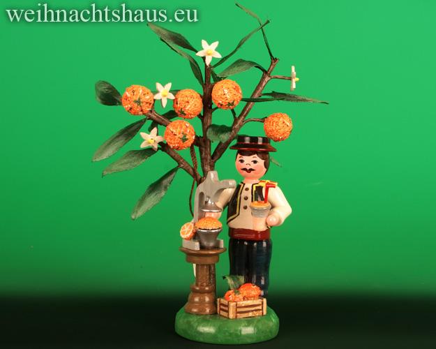 Seiffen Weihnachtshaus -  .2021  Jahresfigur  Hubrig  Orange Orangenbaum - Bild 1