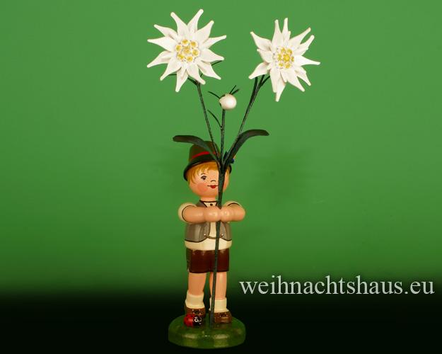 Seiffen Weihnachtshaus - Hubrig Blumenkind Junge 24cm Edelweiss - Bild 1
