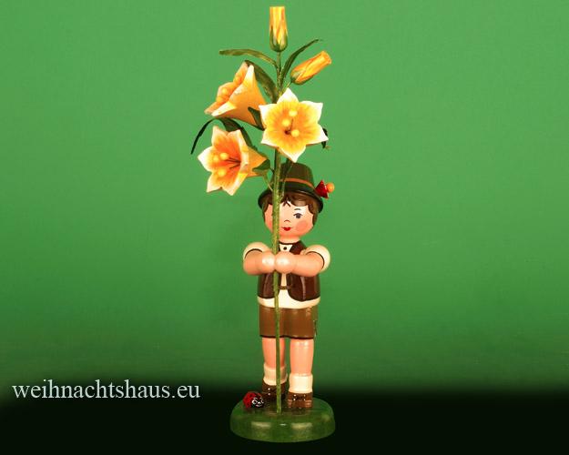Seiffen Weihnachtshaus - Hubrig Blumenkind Junge 24cm Lilie - Bild 1