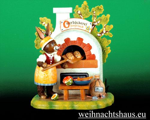 Seiffen Weihnachtshaus - Hubrig  Häschen Osterbäckerei/ NEU 2011 - Bild 1