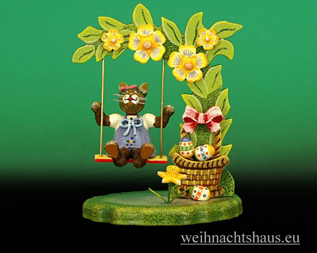 Seiffen Weihnachtshaus - Hubrig   Häschen Blumenschaukel/ NEU 2013 - Bild 1