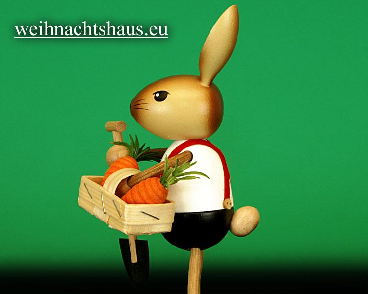 Seiffen Weihnachtshaus - .Krummbeinhase Kuhnert Möhrengärtner NEU 2013 - Bild 2