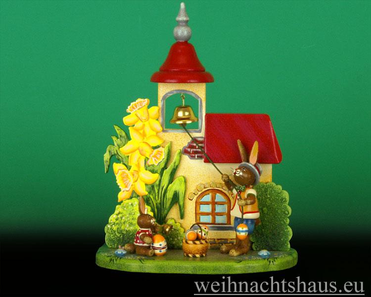 Seiffen Weihnachtshaus - Hubrig   Häschen Osterglockenläuten/ NEU 2012 - Bild 1