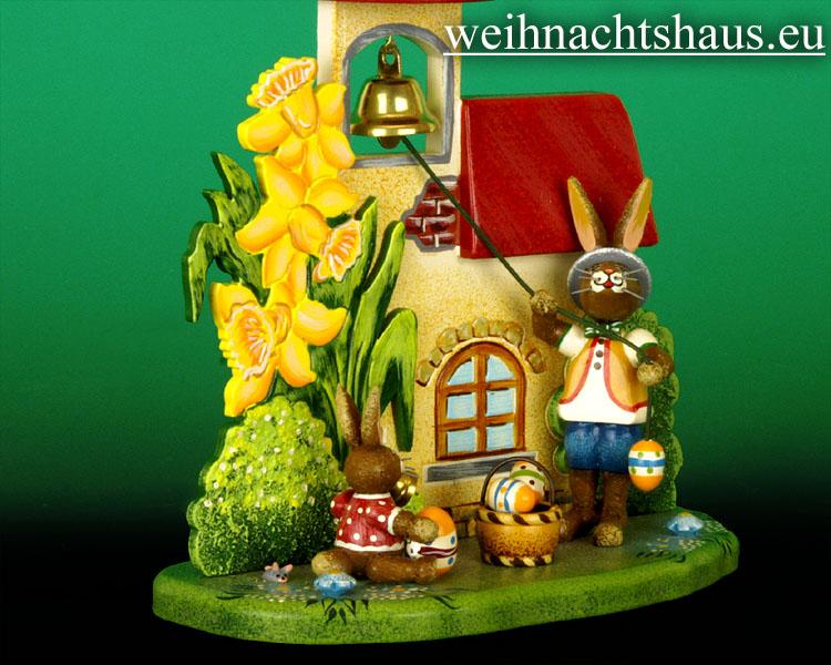 Seiffen Weihnachtshaus - Hubrig   Häschen Osterglockenläuten/ NEU 2012 - Bild 2