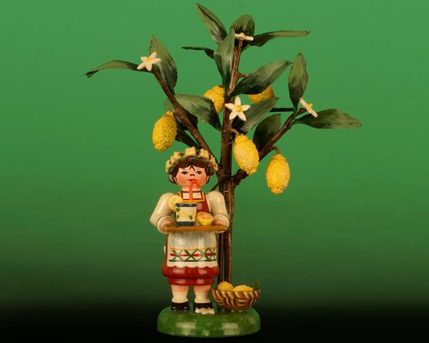 Seiffen Weihnachtshaus -  2020  Jahresfigur  Hubrig  Zitrone - Bild 1