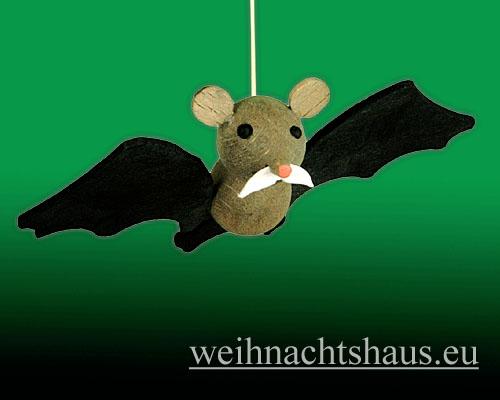 Seiffen Weihnachtshaus - Kleine Hufeisennase fliegend Opa - Bild 1