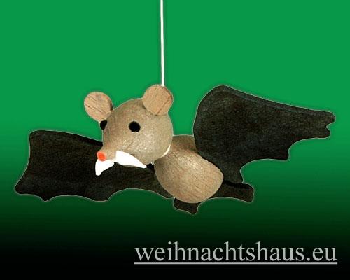 Seiffen Weihnachtshaus - Kleine Hufeisennase fliegend Opa - Bild 2