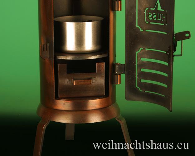 Seiffen Weihnachtshaus - Räucherofen gross aus Metall Tisch Hussl - Bild 2