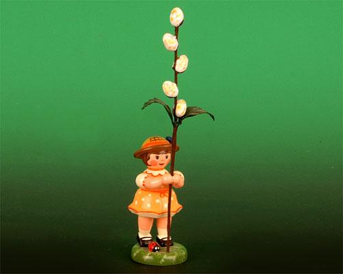 Seiffen Weihnachtshaus - Sommerhutblumenmädchen 11 cm Maikätzchen/ Hubrig 1.Auflage - Bild 1