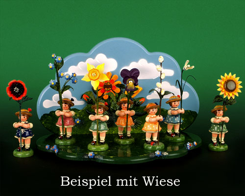 Seiffen Weihnachtshaus - Sommerhutblumenmädchen 11 cm Heckenrose NEU 2013 - Bild 2