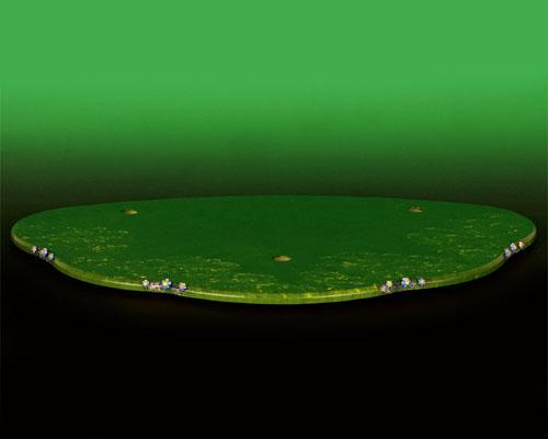 Seiffen Weihnachtshaus - Hubrig Wiese grün groß - Bild 1