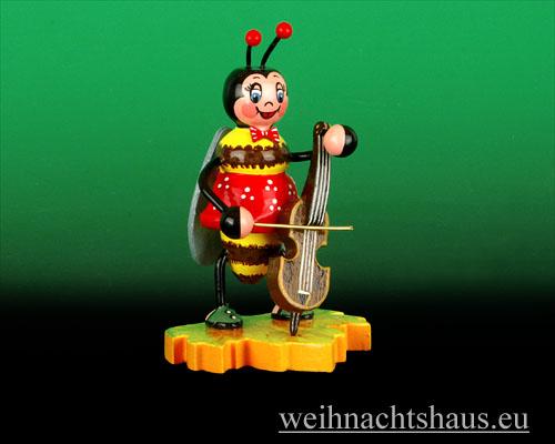 Seiffen Weihnachtshaus - Käfer Hummelmädchen Cello - Bild 1