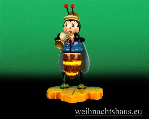 Seiffen Weihnachtshaus - Käfer Hummeljunge Trompete - Bild 1