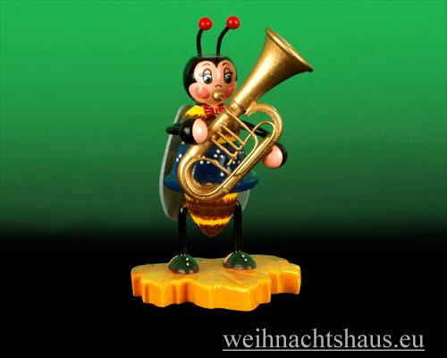 Seiffen Weihnachtshaus - Käfer Hummelmädchen Tuba - Bild 1