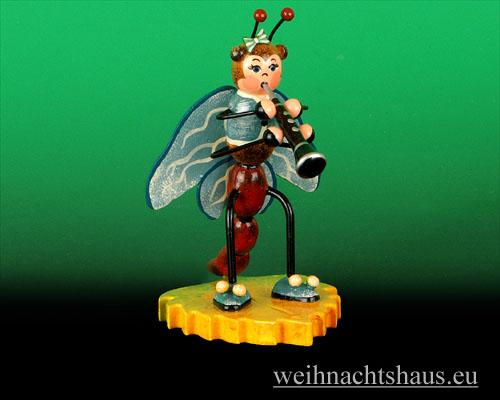 Seiffen Weihnachtshaus - Käfer Libelle Klarinette - Bild 1