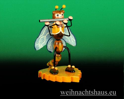 Seiffen Weihnachtshaus - Käfer Libelle Querflöte - Bild 1