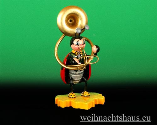 Seiffen Weihnachtshaus - Käfer Marienkäfer Sousaphon - Bild 1