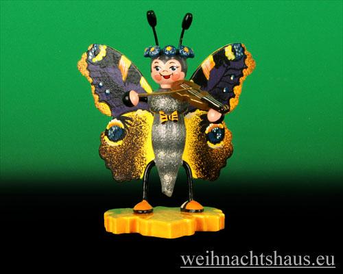 Seiffen Weihnachtshaus - Käfer Schmetterling Geige - Bild 1