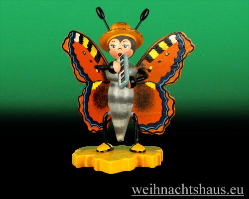 Seiffen Weihnachtshaus - Käfer Schmetterling Melodika - Bild 1