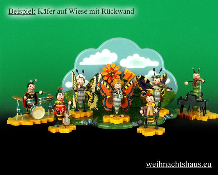 Seiffen Weihnachtshaus - Käfer Schmetterling Melodika - Bild 3