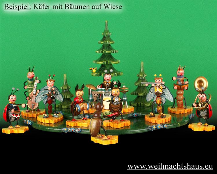 Seiffen Weihnachtshaus - Käfer Schmetterling Melodika - Bild 2