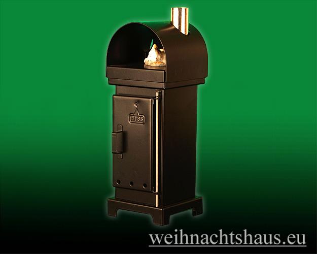Seiffen Weihnachtshaus - Räucherofen aus Metall altdeutscher Kaminofen - Bild 1