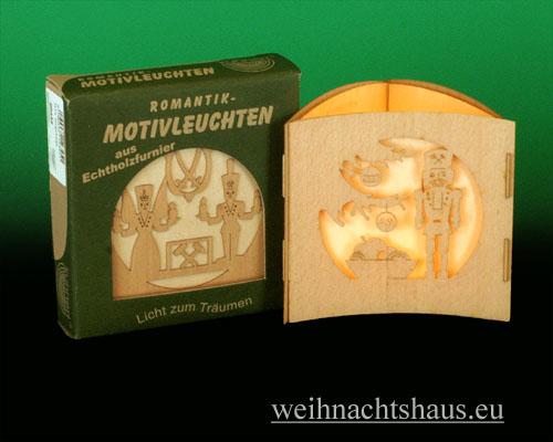 Seiffen Weihnachtshaus -  Teelichtleuchter Motivleuchte 3-seitig  Erzgebirge - Bild 1
