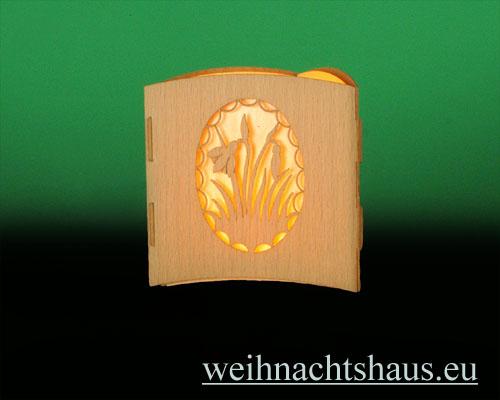 Seiffen Weihnachtshaus -  Teelichtleuchter Motivleuchte 3-seitig Ostern - Bild 3