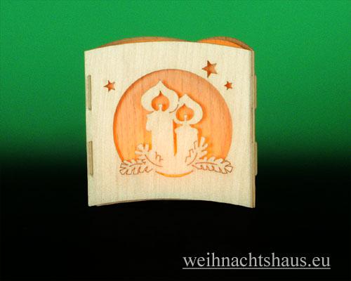 Seiffen Weihnachtshaus -  Teelichtleuchter Motivleuchte Weihnacht - Bild 2