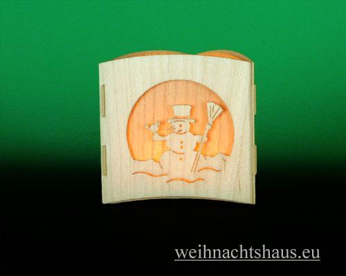 Seiffen Weihnachtshaus -  Teelichtleuchter Motivleuchte Weihnacht - Bild 3