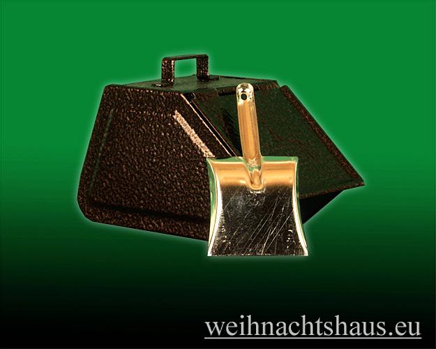 Seiffen Weihnachtshaus - Räucherofen aus Metall altdeutscher Kohlenkasten - Bild 2