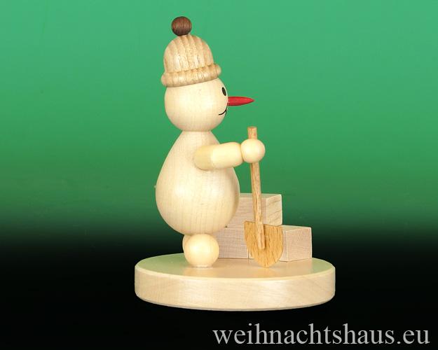 Seiffen Weihnachtshaus - Kugelschneemann natur Iglubauer - Bild 2