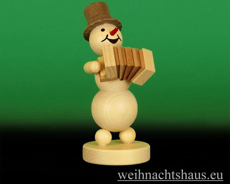 Seiffen Weihnachtshaus - .Kugelschneemann Musikant  Akkordeon NEU 2014 - Bild 1