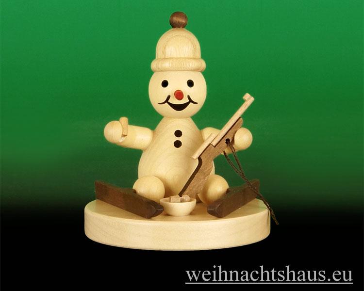 Seiffen Weihnachtshaus - .Kugelschneemann Biathlet Junior sitzend Wagner Neu 2014 - Bild 1
