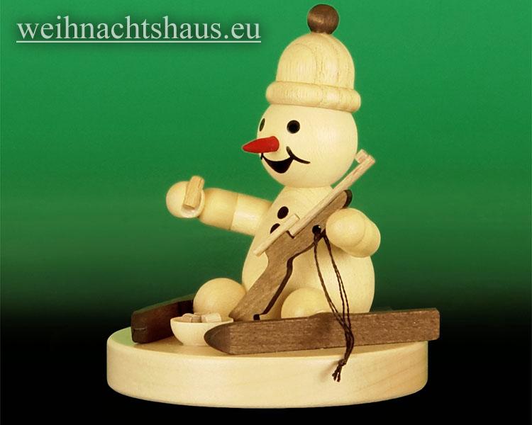 Seiffen Weihnachtshaus - .Kugelschneemann Biathlet Junior sitzend Wagner Neu 2014 - Bild 2
