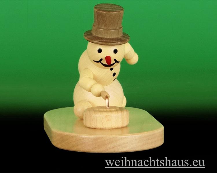 Seiffen Weihnachtshaus - .Kugelschneemann Curling mit Stein Wagner - Bild 2